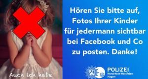 Die Polizei in NRW mahnt Eltern zu mehr Datenschutz (Quelle: Facebook)