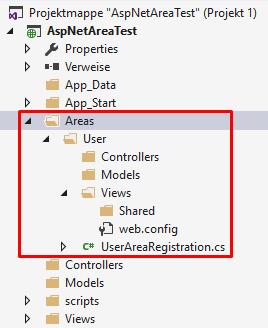 Bereich in einer ASP.NET MVC5 Anwendung