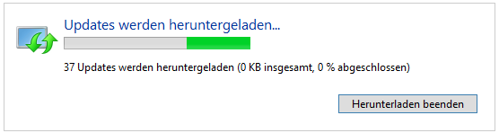 Windows Update hängt bei 0kb/0%