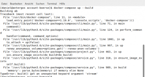 Manchmal können aktuelle Arch-Pakete zu fehlerhaftem Verhalten führen, wie hier am Beispiel von docker-compose.